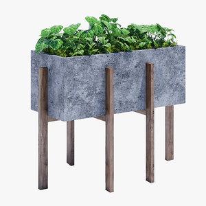 3D berlin concrete accent