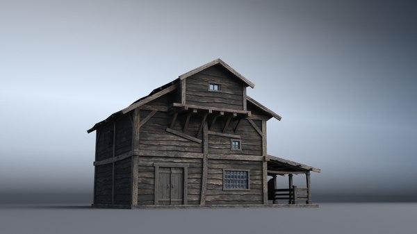3D western house 03 village