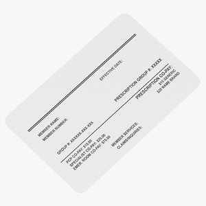 3D medical insurance card model