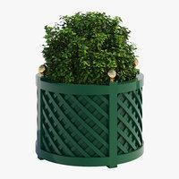 3D treillage planters model
