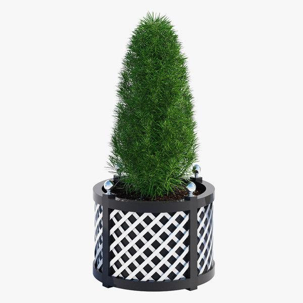 3D treillage planters