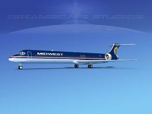 md-83 aircraft passengers 3D