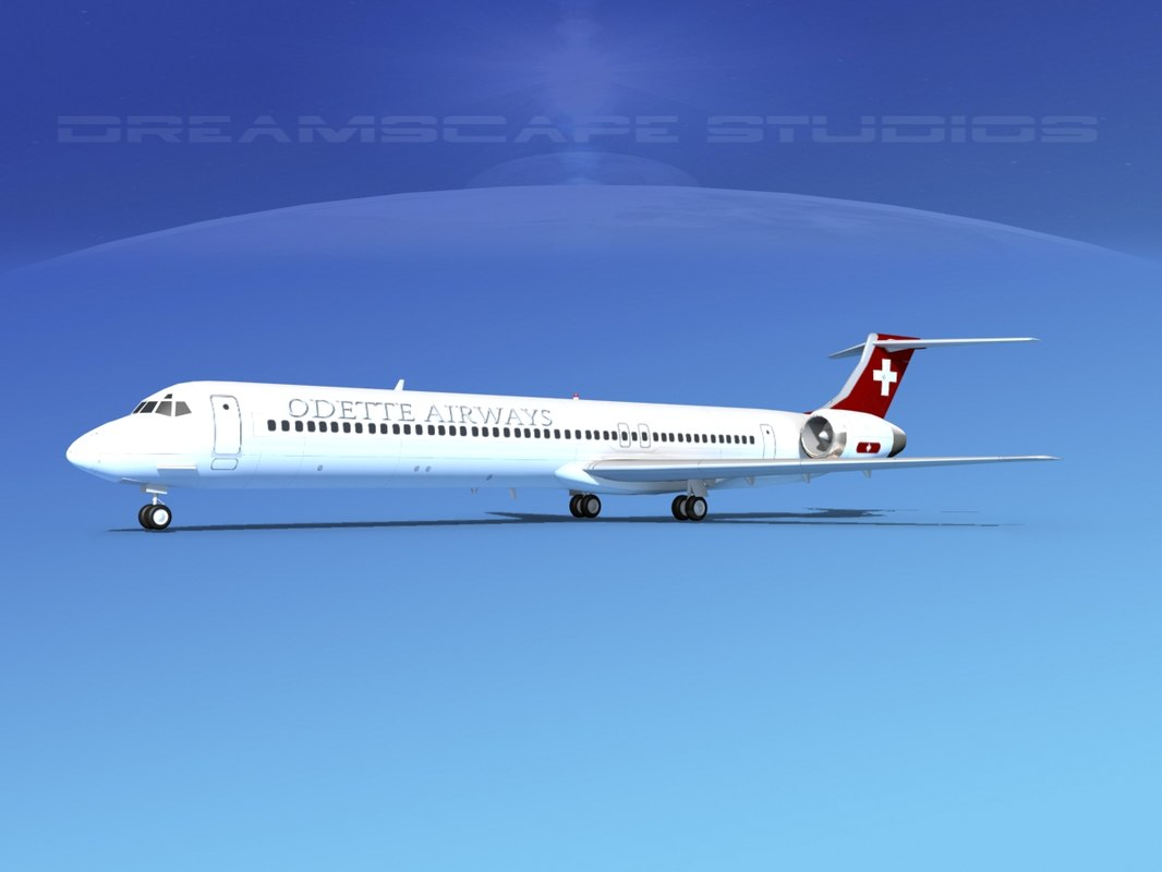 3D md-83 aircraft passengers model