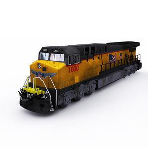 3D ge locomotive