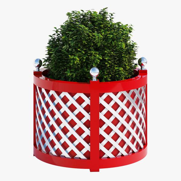 treillage planters 3D model