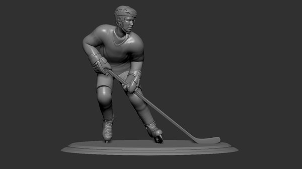3D hockey player collectible figure