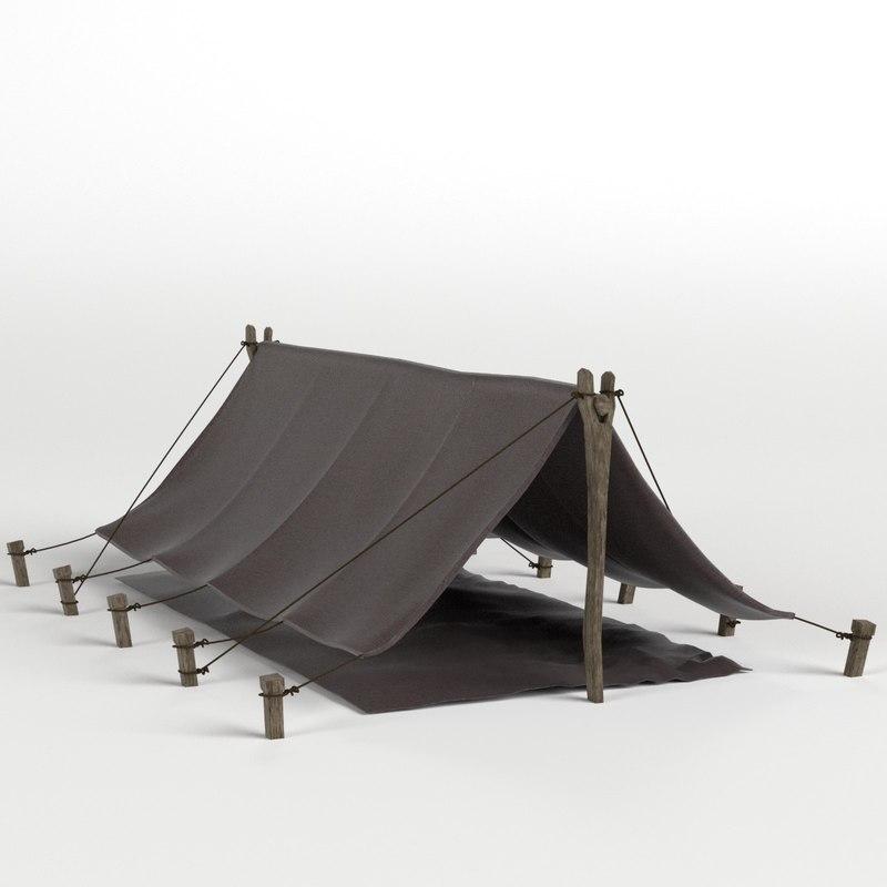 pup tent 3D model