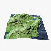 hilly landscape 3D model
