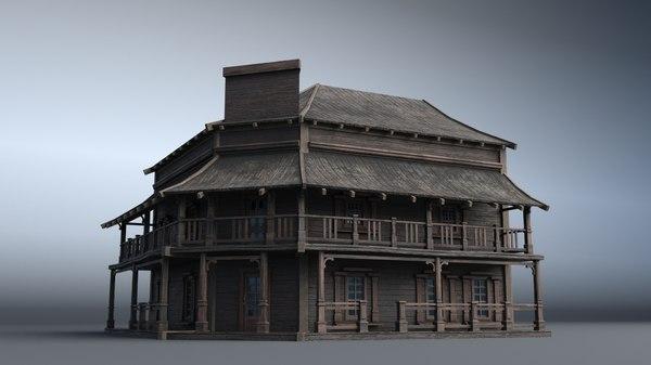 3D western house 05 village