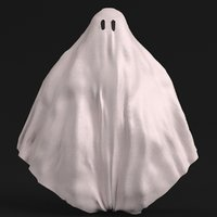 bedsheet ghost 1 3D model