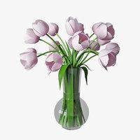 tulips vase 3D model