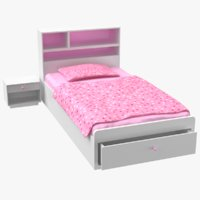 3D bed modeled model