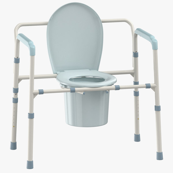 bedside commode chair 3D model