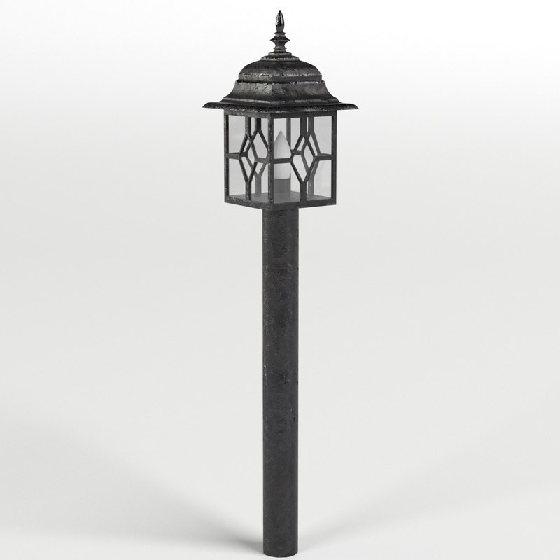 3D model garden outdoor lamp