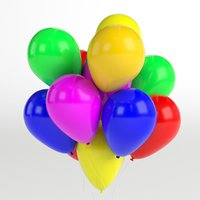 3D bunch balloons model
