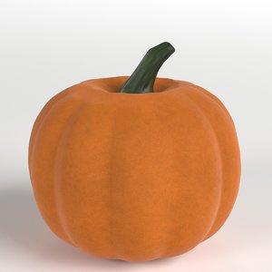 stylized pumpkin 3D model