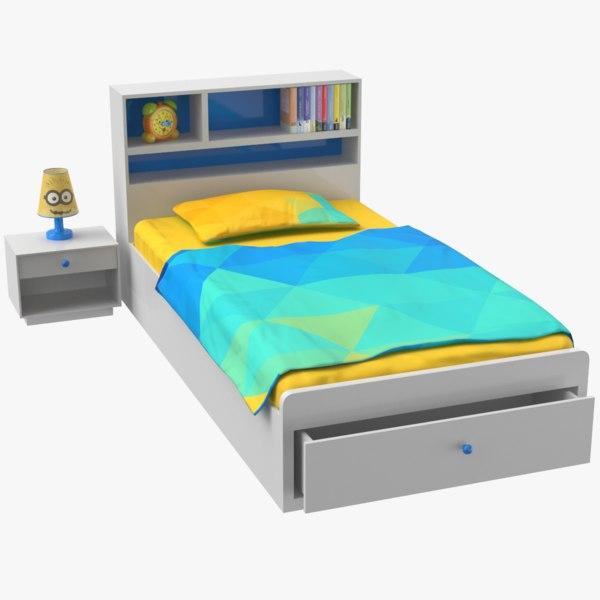 3D kid bed model