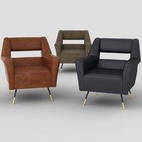 ile armchairs 3D model