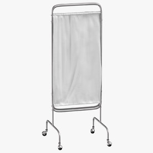 hospital privacy screen folded 3D model