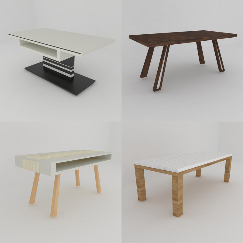 dining tables 3D