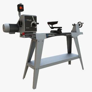 3D delta lathe machine