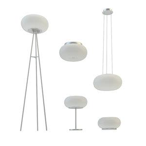 3D lighting eglo optica set model