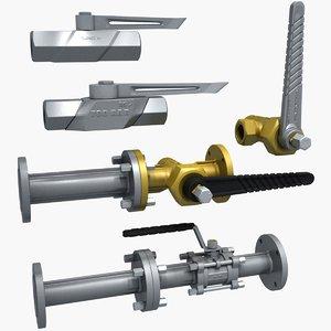 ball valves garden 3D model