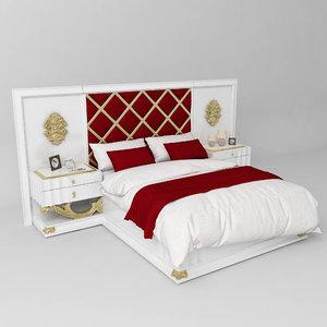 3D model dante bedroom furniture