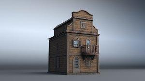 3D western house 06 village