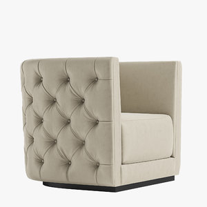 3D model leandro armchair opera contemporary