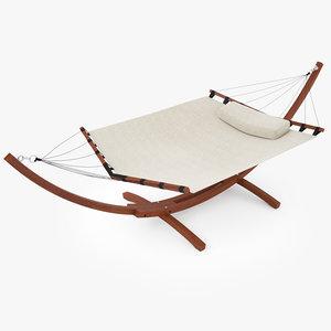 wooden hammock 3D