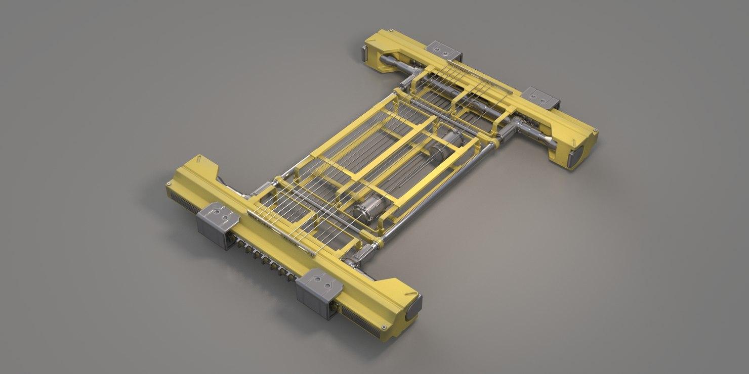 3D engine sci-fi model
