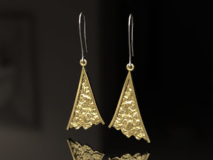 3D model shard earrings