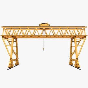 truss gantry crane 3D model