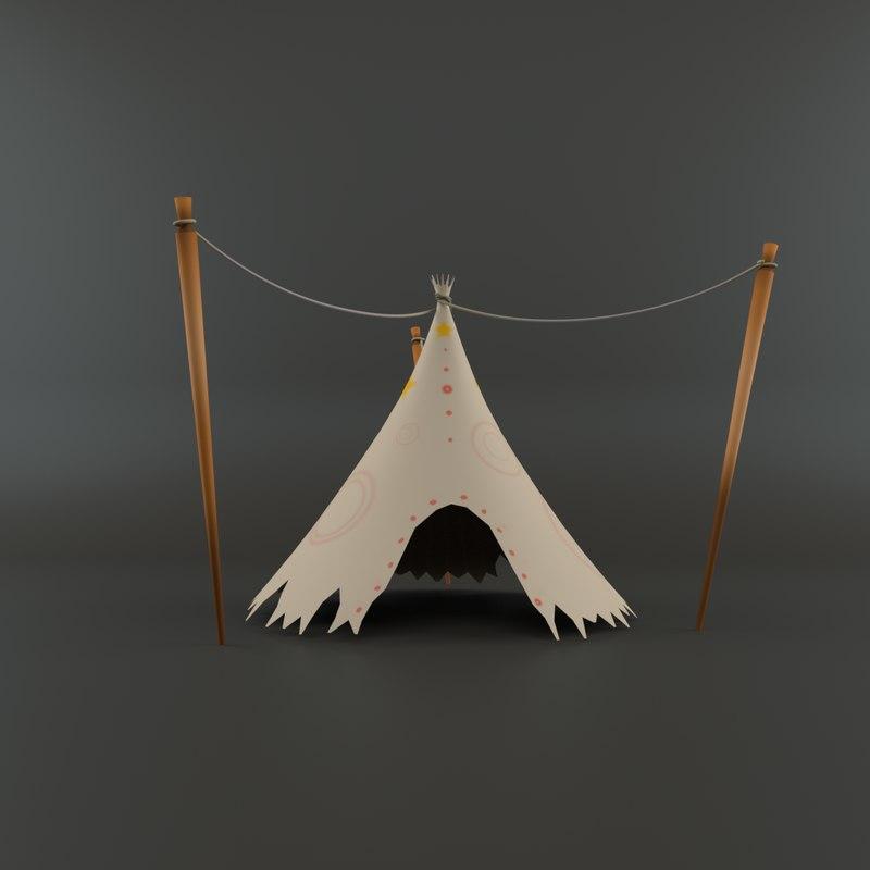 cartoon tent model