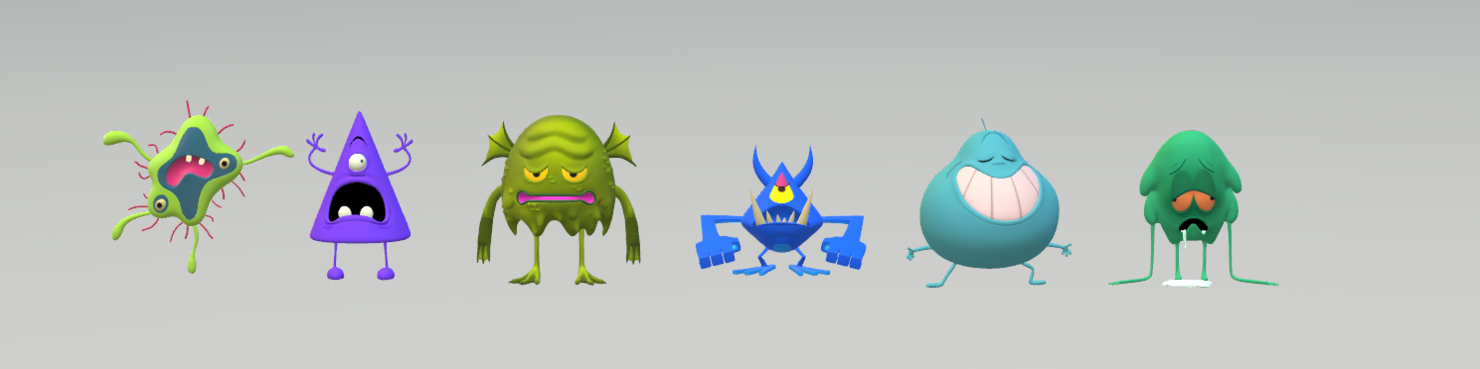 cartoon monster 3D