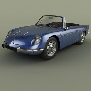 3D model 1965 renault alpine a110