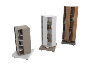 modern turnable bookshelf furniture model