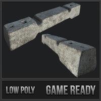 small barricade concrete 3D model
