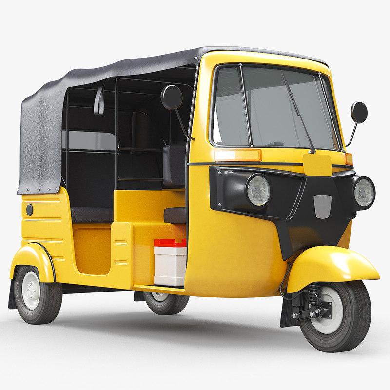 auto rickshaw bajaj 3D model