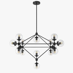 3D cosmo modo chandelier