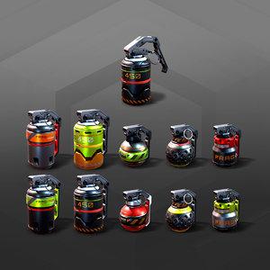5 sf grenades 3D