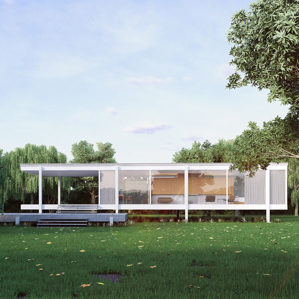 3D farnsworth house model