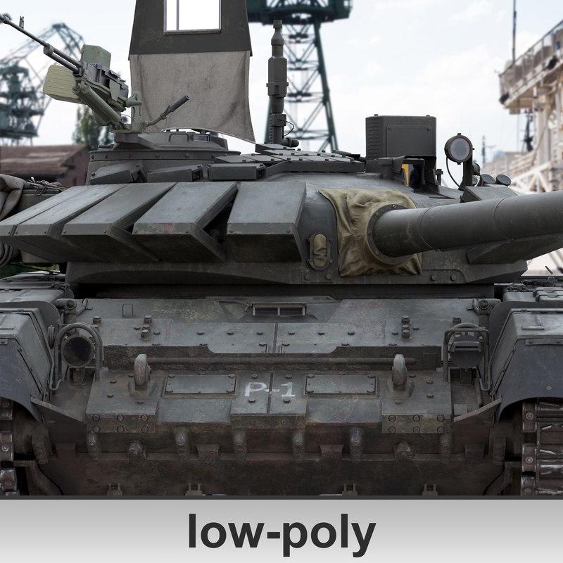 main battle tank t72 3D