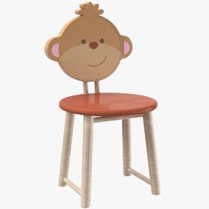 3D kids chair model