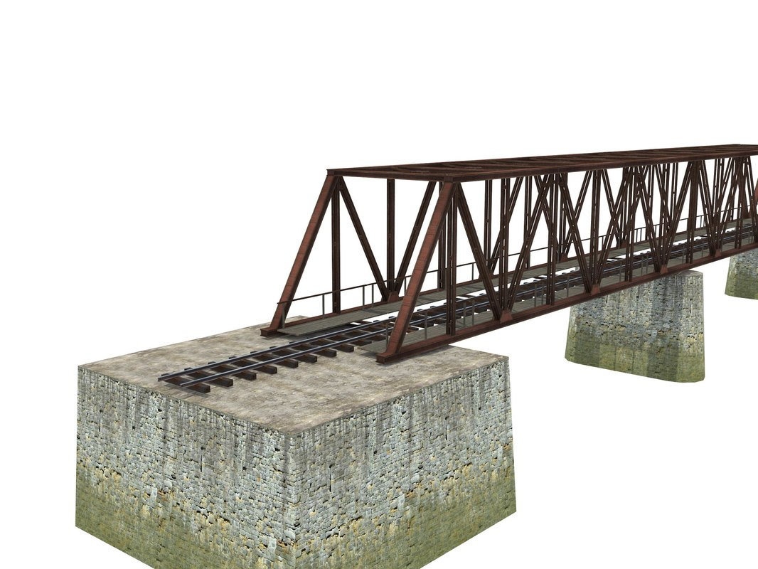 bridge railway 3D model