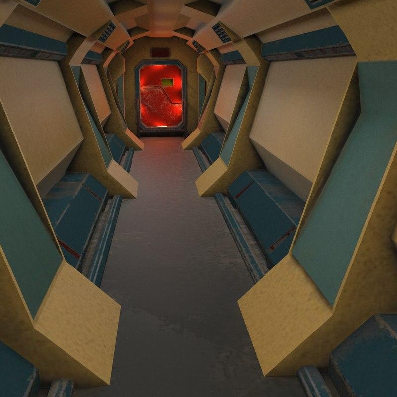 scifi interior 3D model