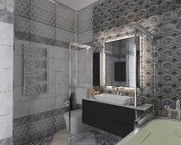 3D bathroom modern tailand model