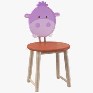 kids chair 3D