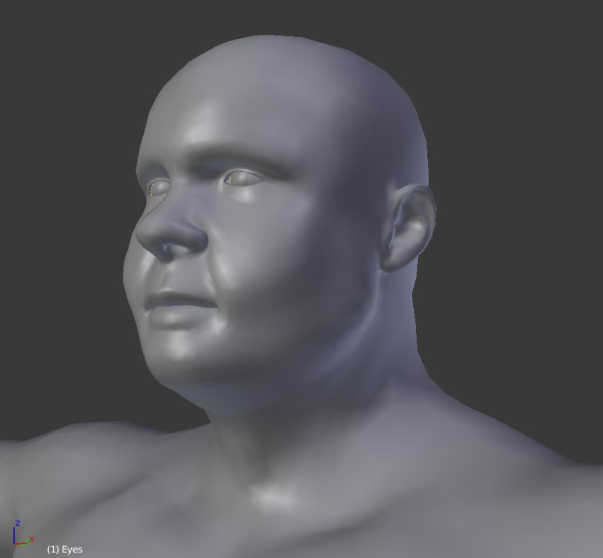 3D model base mesh big male female